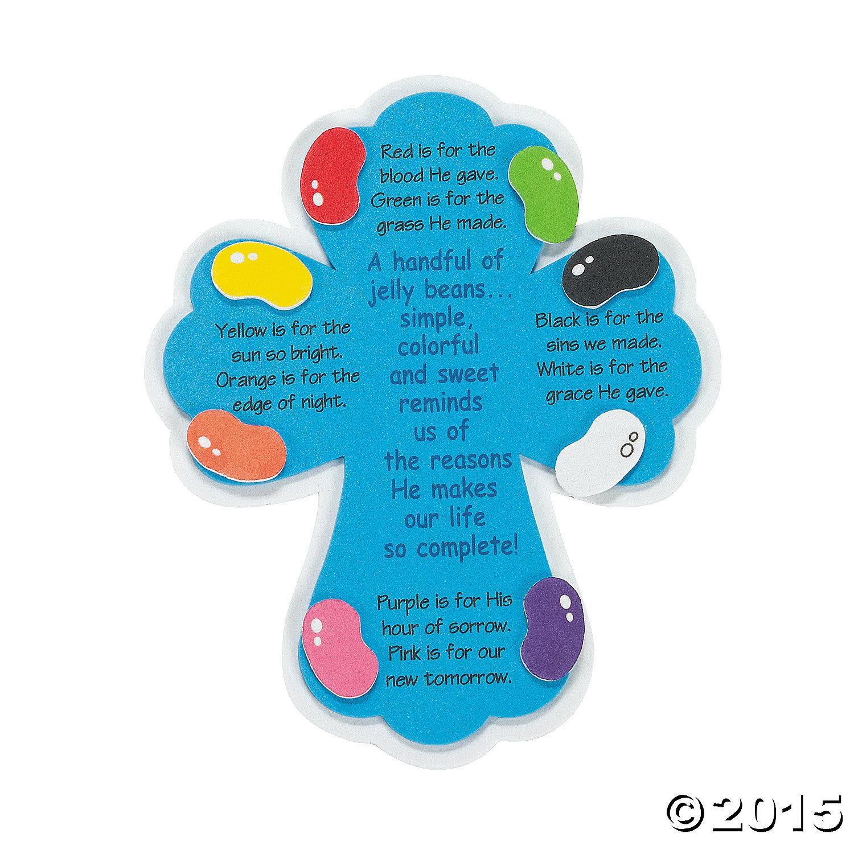 Religious Jelly Bean Prayer Magnets Craft Kit 12pk Party