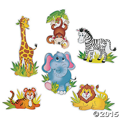 Zoo Animal Large Cutouts 6 Pk Party Supplies Canada Open