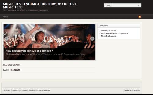 screenshot of Brooklyn College music class