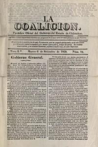 Gobierno General, 1859