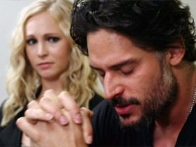 JOE MANGANIELLO AND KRISTIN BAUER GET A SUPERNATURAL INTERVENTION