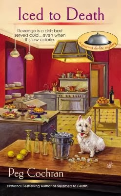 ICED TO DEATH (GOURMET DE-LITE MYSTERY, BOOK #3) BY PEG COCHRAN: BOOK REVIEW