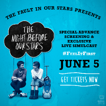 SPECIAL ADVANCE SCREENING FOR MOVIE THE FAULT IN OUR STARS: MOVIE NEWS