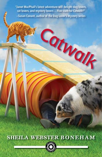 CATWALK (AN ANIMALS IN FOCUS MYSTERY, BOOK #2) BY SHEILA WEBSTER BONEHAM: BOOK REVIEW