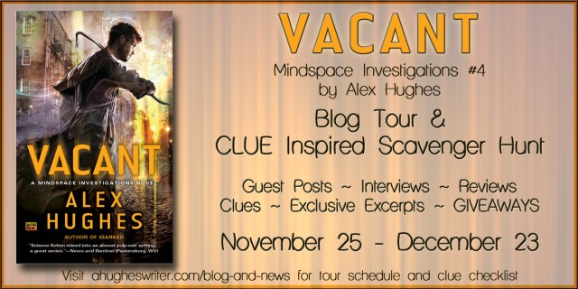 ALEX HUGHES'S 'VACANT' BLOG TOUR AND 'CLUE' INSPIRED SCAVENGER HUNT