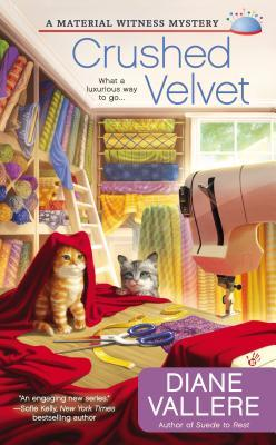 CRUSHED VELVET (A MATERIAL WITNESS MYSTERY, BOOK #2) BY DIANE VALLERE: BOOK REVIEW