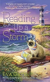READING UP A STORM (LIGHTHOUSE LIBRARY MYSTERY, BOOK #3) BY EVA GATES: BOOK REVIEW