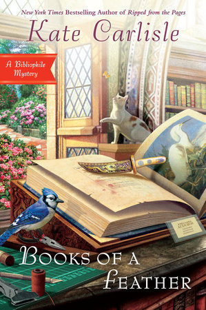 BOOKS OF A FEATHER (BIBLIOPHILE MYSTERY, BOOK #10) BY KATE CARLISLE: BOOK REVIEW