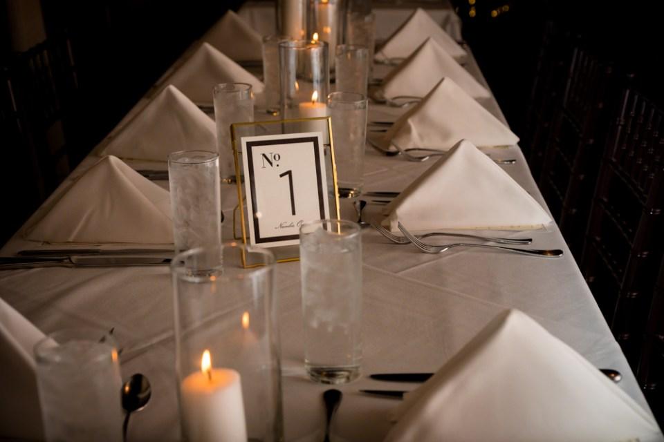 Vinology wedding reception table setting