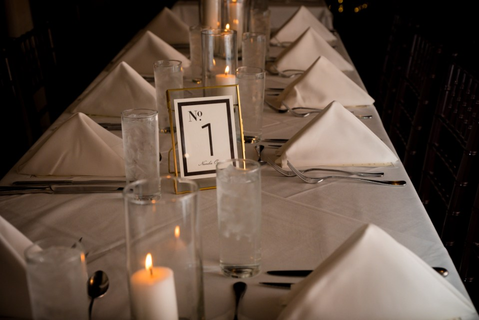 Vinology wedding reception table setting