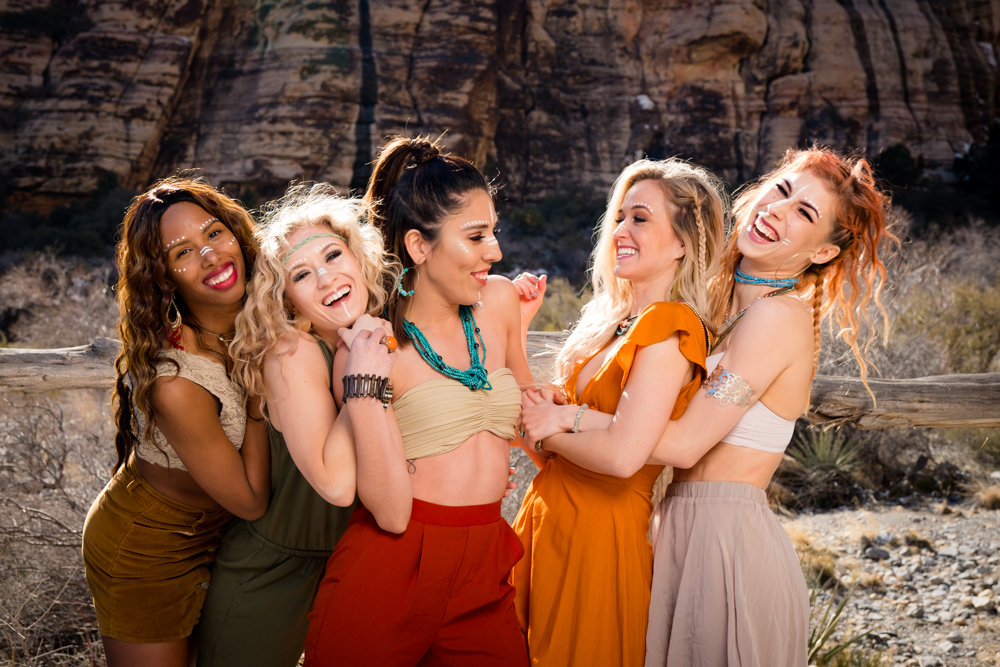Beautiful girls smiling and laughing together