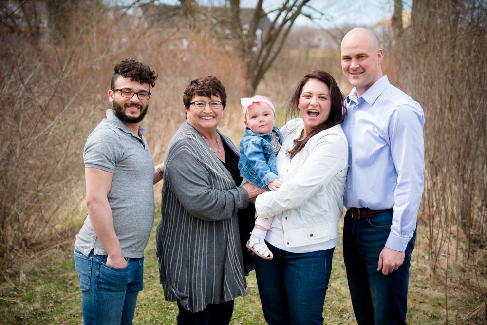 Family photos of 5