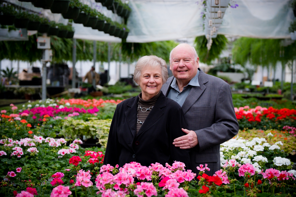 Older couple at HillTop Greenhouse & Farms