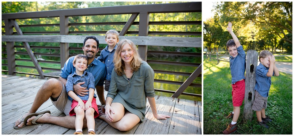 Summer family portraits outdoors at a beautiful Michigan park.