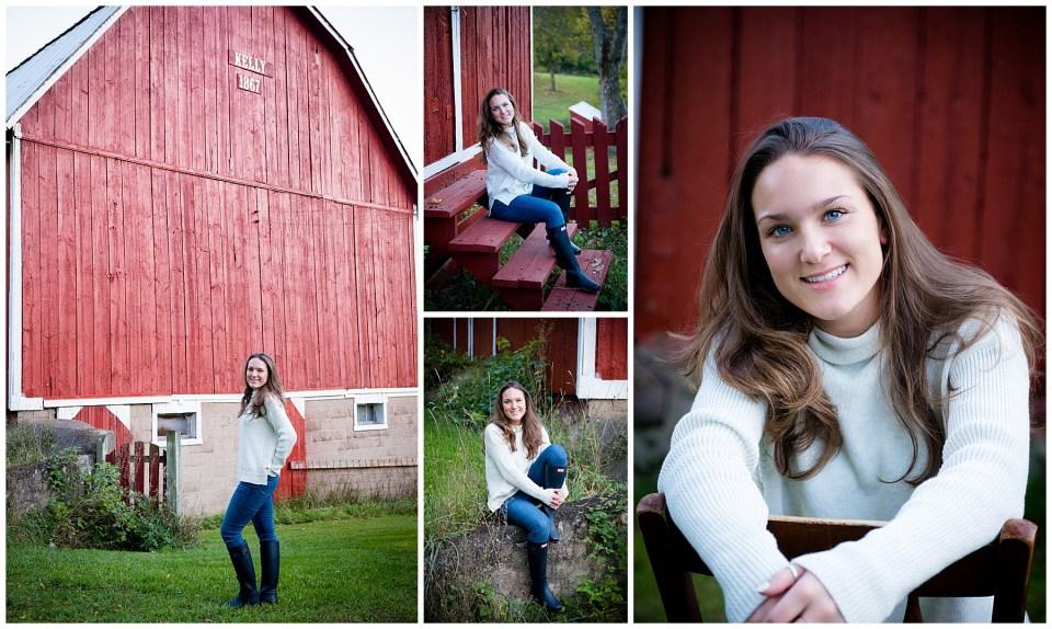 Michigan High School Senior Photos at a Family Farm