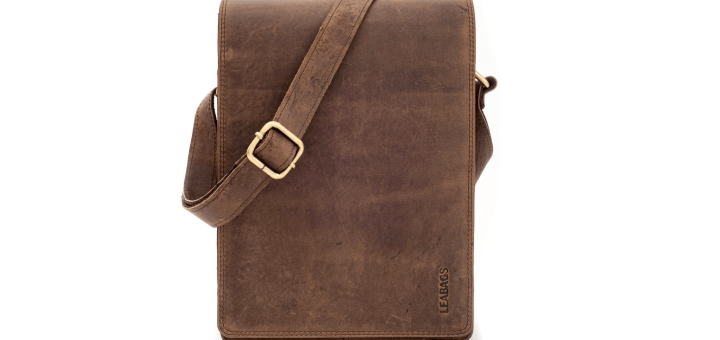 Leabags Buffalo Leather Messenger Bag