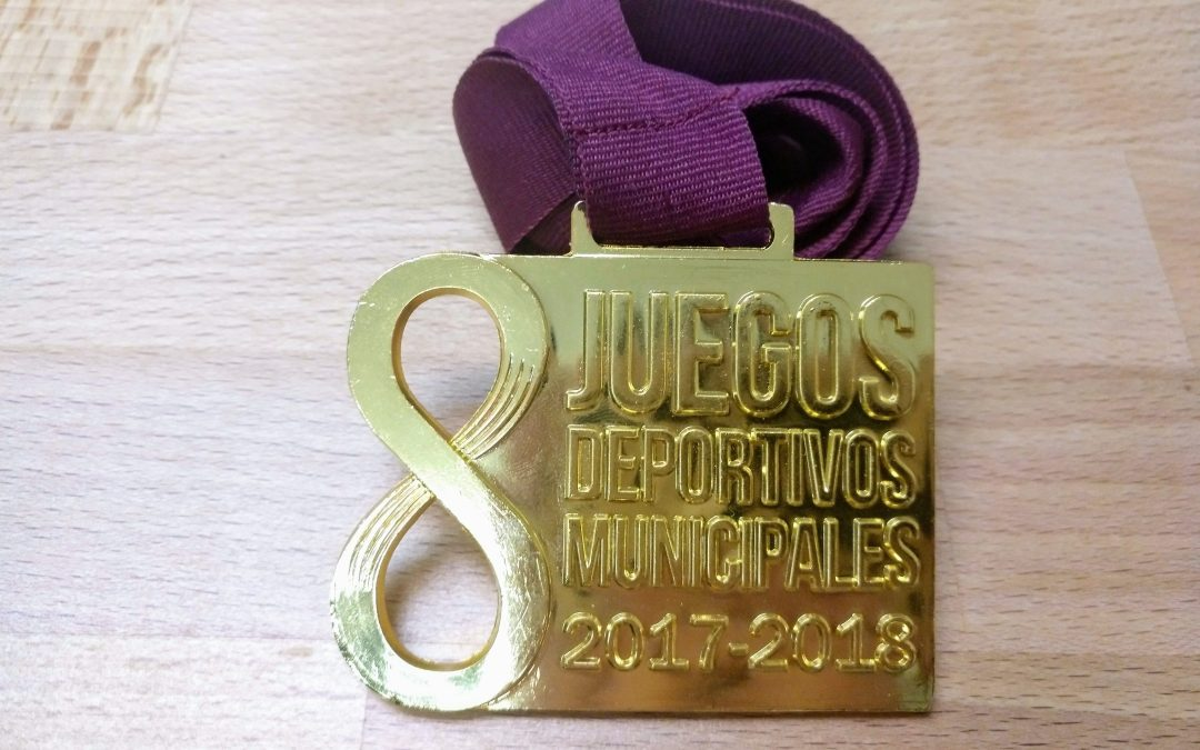medalla juegos deportivos municipales