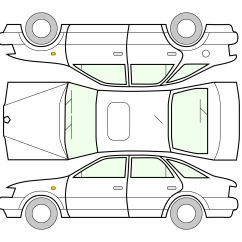Car Damage Inspection Diagram 98 S10 Headlight Switch Wiring Clipart Unfolded