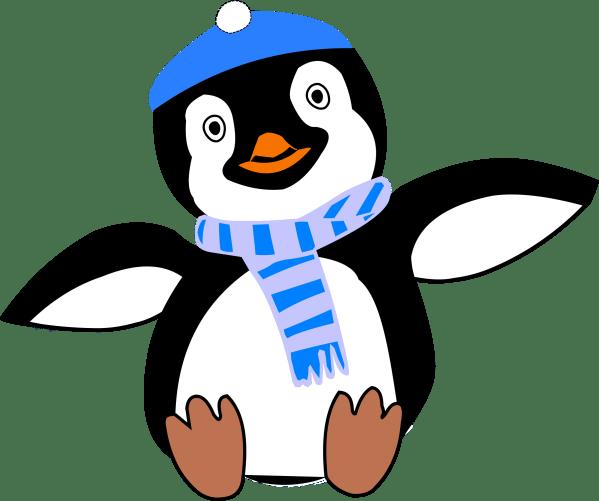 Clipart - Pinguin Im Winter
