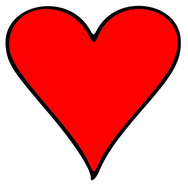 Playing Cards Heart Clip Art