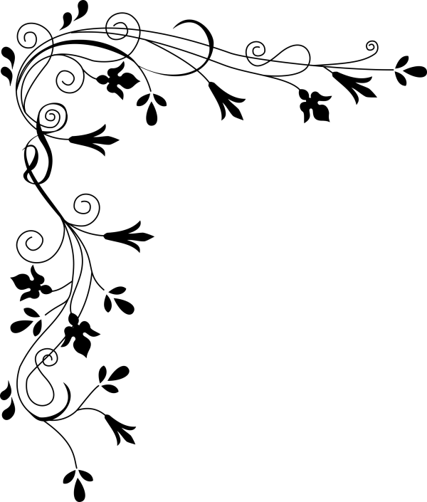 Clipart Stylized Flowers Border
