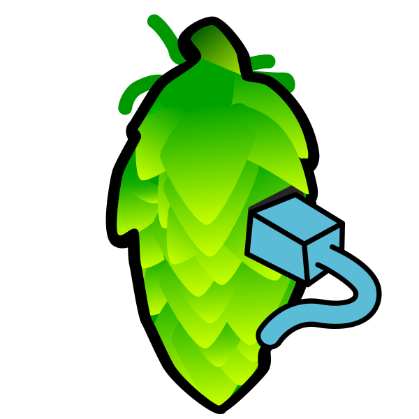 Clipart Hop Cone Color Illustration by Fatty Matty Brewing