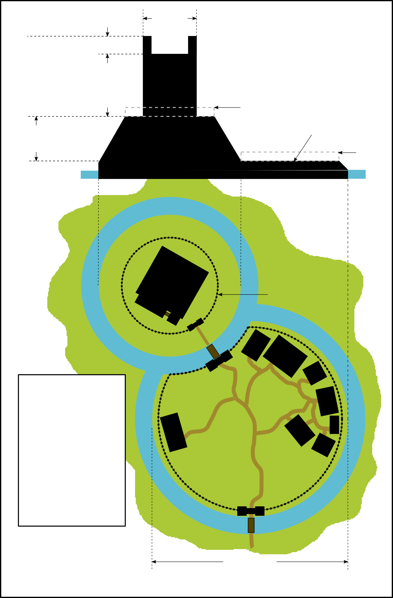 motte and bailey castle labeled diagram desktop computer clipart