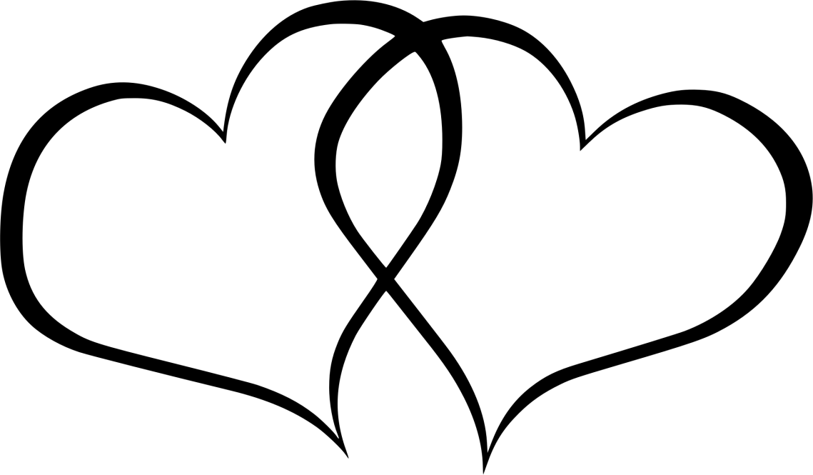 Download Clipart - double hearts