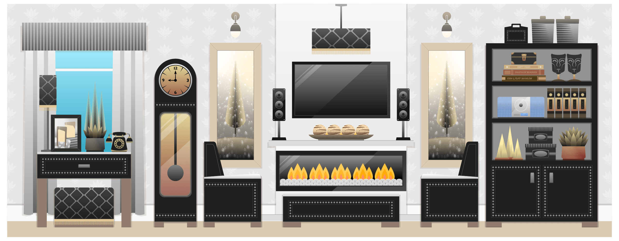 living room pictures clipart entertainment center -