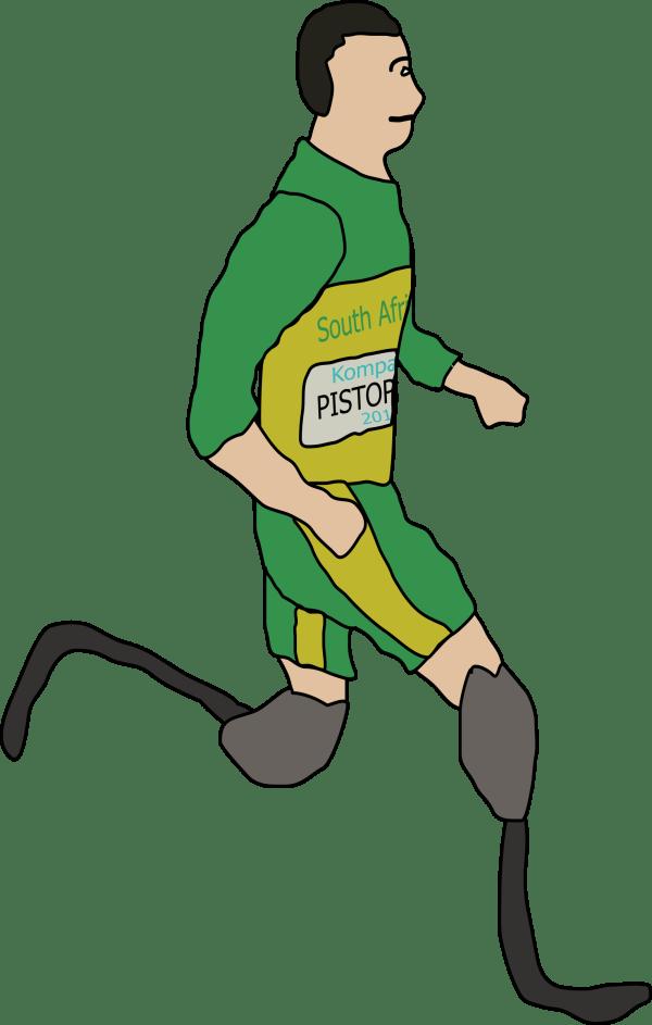 Disabled Runner Clip Art