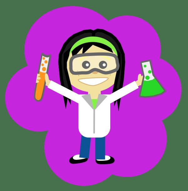 Girl Science Clip Art