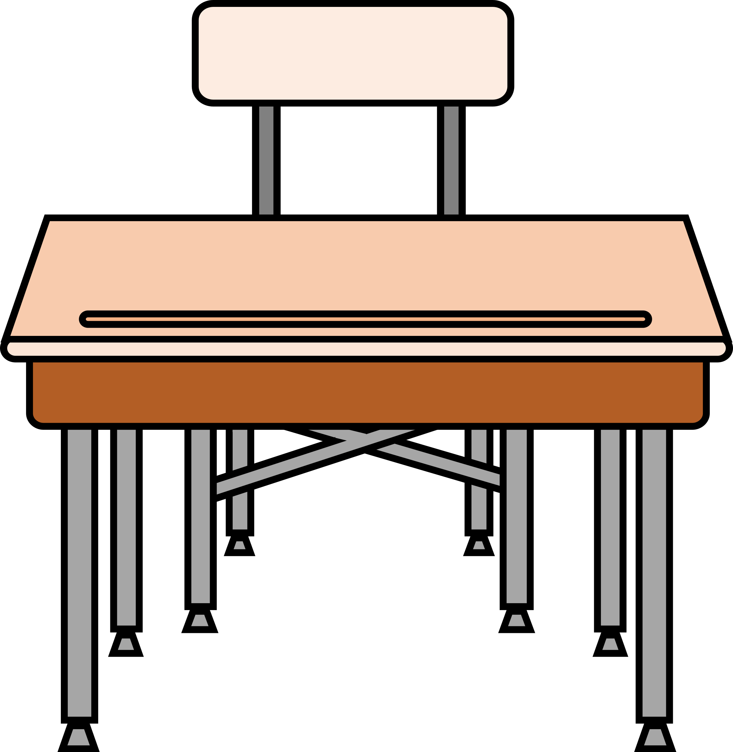 School Desk And Chair Clipart Empty Student 39s Desk