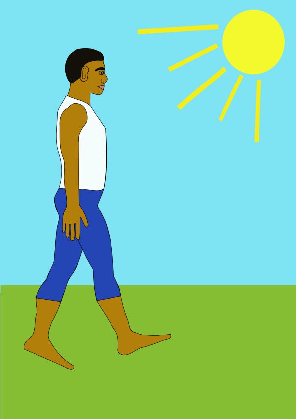 Cartoon Man Walking Clip Art