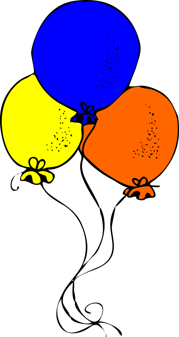 clipart - blue orange and yellow