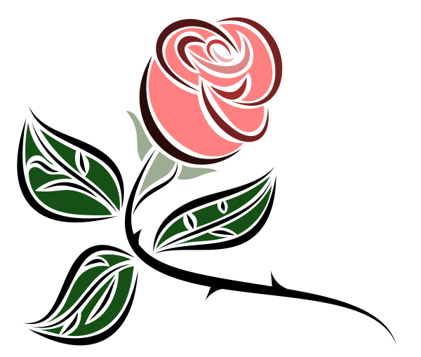 Clipart Stylized Rose