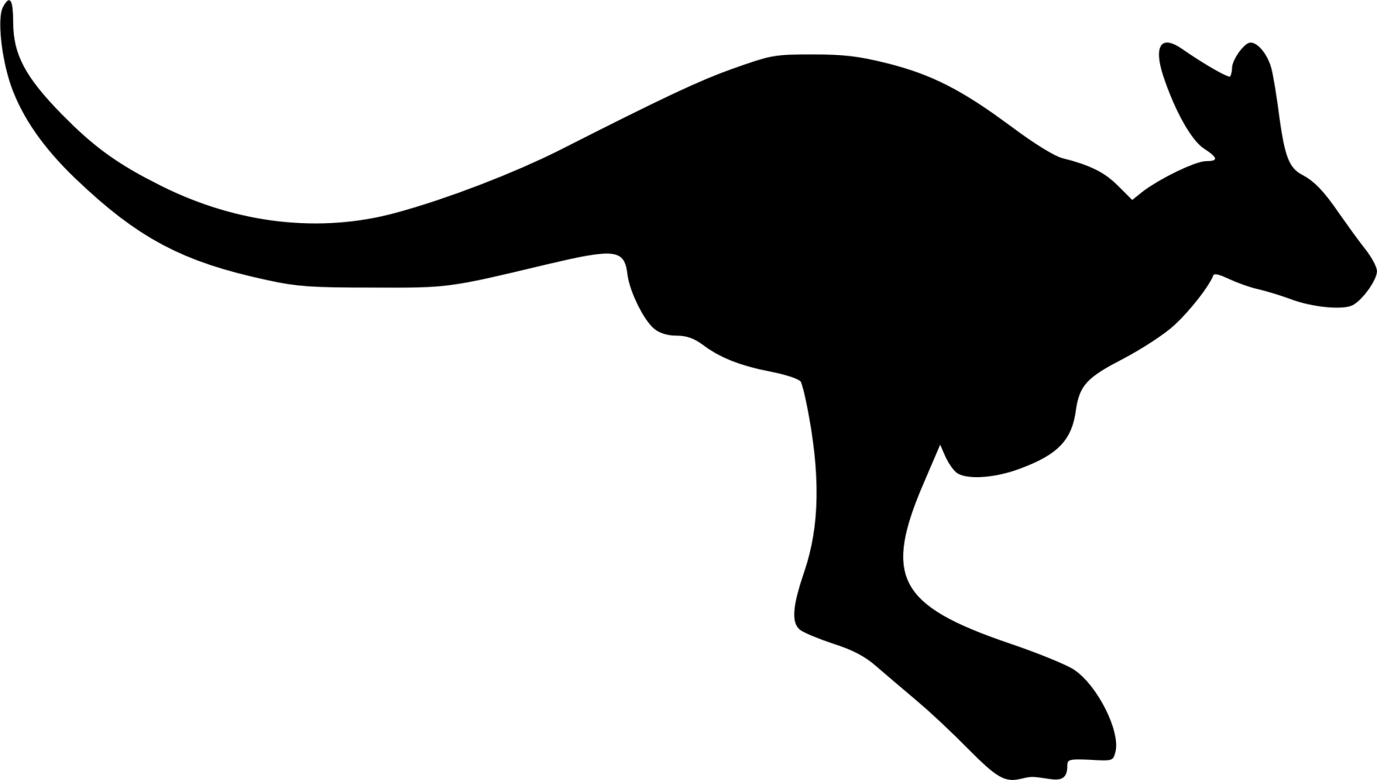 hight resolution of kangaroo silhouette