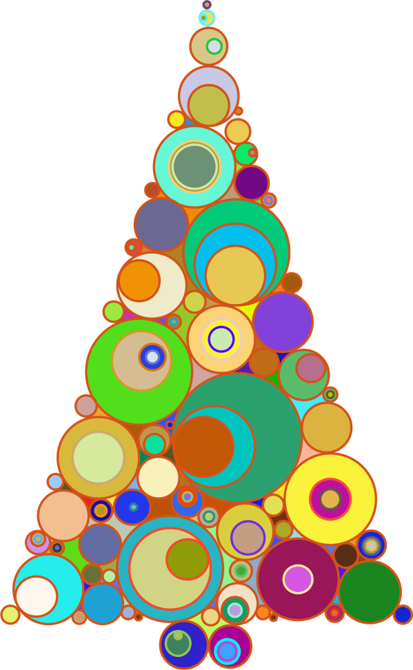 Abstract Christmas Tree Clip Art
