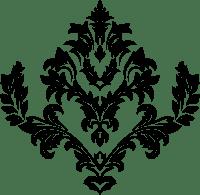 Clipart - Decorative Ornamental Floral Flourish Line Art