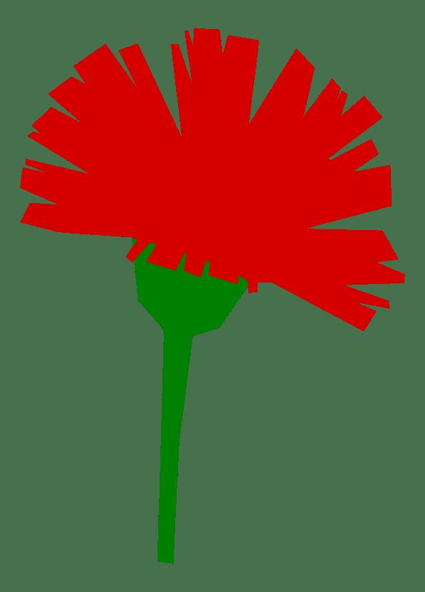 Green Carnation Clip Art
