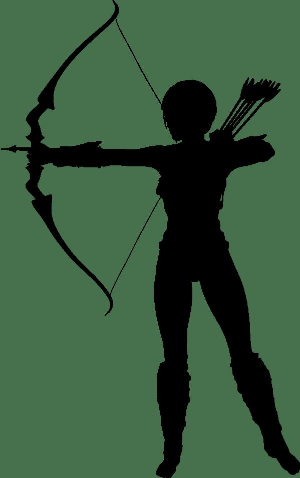 Clipart Amazon Archer Silhouette