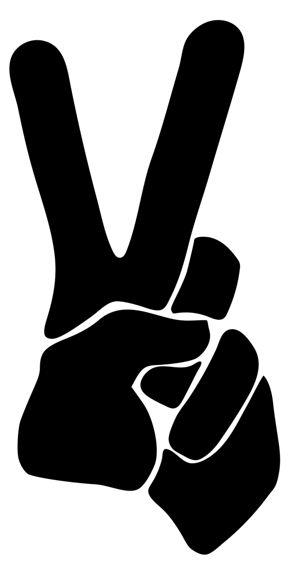Clipart Peace Sign Silhouette Smoothed