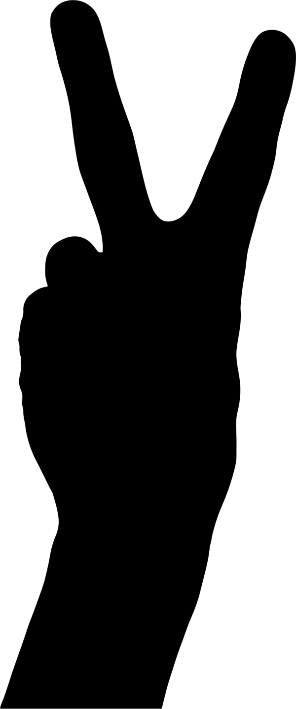 Clipart Peace Hand Sign 2