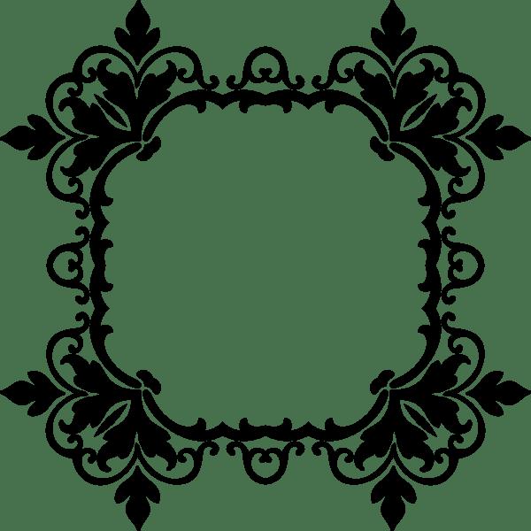 Black and White Damask Frames Clip Art