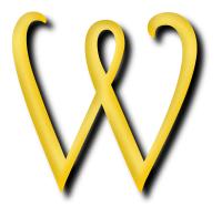 Clipart - Alphabet 13, letter W