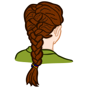 clipart - french braid coloured