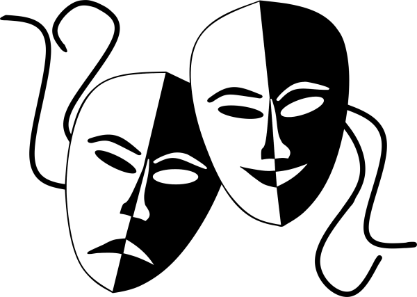 Theatre Masks Comedy Tragedy Clip Art