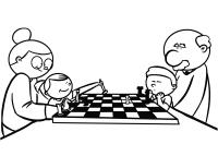 Clipart - Chess coloring book / Dibujo Ajedrez para ...