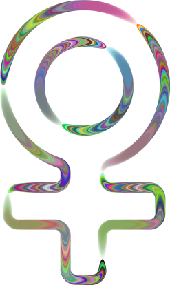 Sixties Groovy Female Symbol by GDJ
