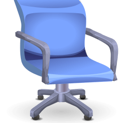 Blue Office Chair Beach With Canopy Clipart