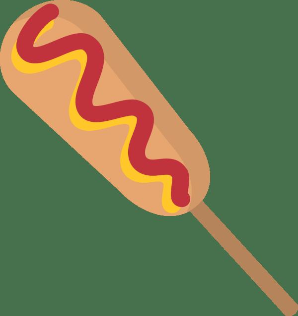 clipart - isolated corn dog